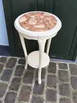 beautiful antique french white flower stand marple top in Ramstein, Germany