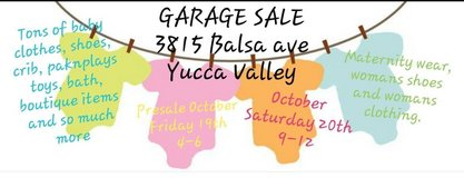 baby and maternity garage sale in Yucca Valley, California