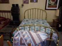 Queen Size Brass Bed Set in Fort Riley, Kansas