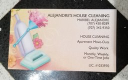 House cleaning service in Vacaville, California