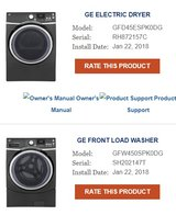 GE Washer & Dryer MUST SELL in Fort Bliss, Texas