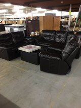 Leather Couch, Love Seat, Recliner and Ottoman in Camp Lejeune, North Carolina
