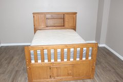 Creekside full size Captain's bookcase bed- Taffy brown in Spring, Texas