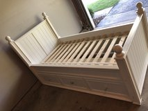 Pottery Barn white Thomas storage bed in Lockport, Illinois