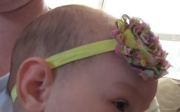 Hand made baby headbands in 29 Palms, California