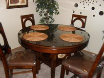 5 PC DINETTE TABLE WITH PROTECTIVE GLASS in Fort Riley, Kansas