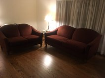 couch and loveseat set in Lockport, Illinois