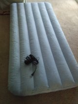Inflatable mattress and pump in Fairfield, California