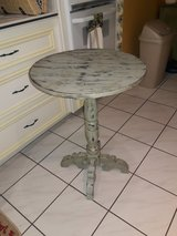 "Vintage extra shabby chic accent table color hint of Mint H30 across top 22"" in Conroe, Texas"