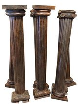 Antique Teak Wood Columns Pilasters Rare Set of Pillars in 29 Palms, California