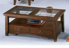 Prairie view occasional table set in Yucca Valley, California
