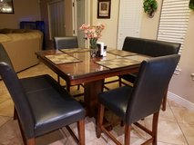 Ashley 5 Piece Counter Height Dining Set with 2 Bench Seats in El Paso, Texas