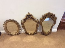 3 FRENCH STYLE DECORATIVE GILT MIRRORS in Lakenheath, UK