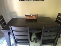 Ashley's furniture table in Camp Pendleton, California