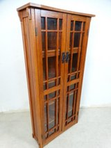 Prairie Style Glass Door Small Bookcase or DVD in Pearland, Texas