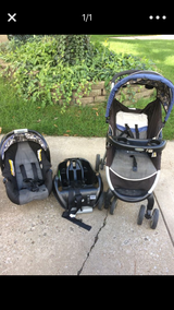 Car seat with base and stroller in Chicago, Illinois