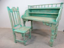 Rustic Green distressed Desk & Chair in Pearland, Texas