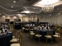 Navy wedding tablecloths and napkins in Chicago, Illinois