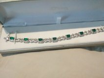 emerald and white saphire bracelet and matching ring set in Fort Campbell, Kentucky