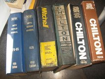 6 LARGE HARDCOVER AUTO REPAIR MANUALS in Bolingbrook, Illinois