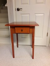 Wooden side table in Shorewood, Illinois