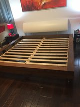 Bo concept king size bed with free mattress in Bellaire, Texas