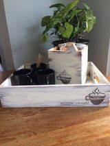Wood coffee tray and Kcup holder in Shorewood, Illinois