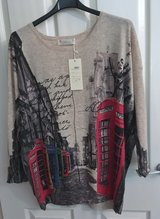 SWEATER, TELEPHONE BOOTHS, NWT in Lakenheath, UK