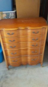 Dresser and Chest of Drawers Red oak 57 years old in Great Condition in Katy, Texas