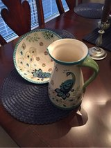 Hand painted ceramic bowl and pitcher in Warner Robins, Georgia