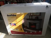 Brand New Duraflames  Wall Mantel Fireplace With 3 D Electric Infrared Quartz Heater in Vista, California