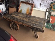 REDUCED!!! - Antique Railroad Luggage Cart in Bolingbrook, Illinois