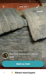 throw and 2 pillows in Fort Leonard Wood, Missouri