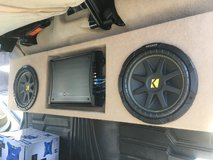 Nissan Titan custom subwoofer box, speakers abc amp. in Louisville, Kentucky