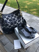 Blue Denim Authentic Coach Wedges in Ramstein, Germany