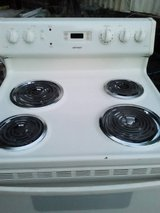 GE electric range in Baytown, Texas
