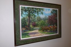 "3'x4' Framed/Matted/Glass ""In the Park"" by Schaeffer/Miles, Certificate of Authenticity inc. in Sugar Land, Texas"