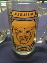 A Set of 3 Very Old Leesville High WAMPUS CATS GLASS MUGS in Fort Polk, Louisiana