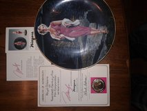 Marilyn Monroe & Gone w/the Wind collectable plates.  With certification in Nellis AFB, Nevada