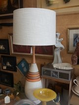 Mid century lamp teak and ceramic in Travis AFB, California