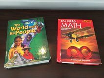 2 Grade 7 Textbooks: Math and Social Studies in Lockport, Illinois