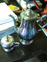 Silver Teapot and sugar bowl in Yucca Valley, California