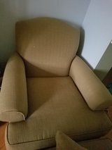 Chair with ottoman and pillows in Chicago, Illinois