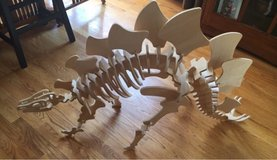 3D Wooden Stegosaurus Skeleton Puzzle in Chicago, Illinois
