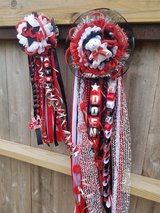 Homecoming mum and garter in Baytown, Texas