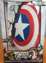 Marvel Comics 3D Captain America Shield Wall Light in Lockport, Illinois