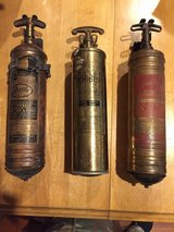 Antique fire extinguishers in Fort Polk, Louisiana