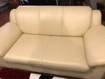 2 Seater and 3 Seater white leather couch in Okinawa, Japan