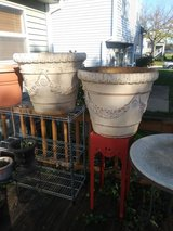 2 BIG Off White Planters in St. Charles, Illinois
