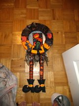 Orange and black witch wreath in Converse, Texas